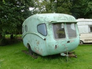 Willerby caravan before restoration
