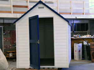 Glassfibre shed