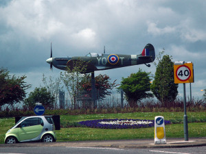 Stockton Spitfire installed on Thornby Roundabout